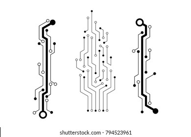 Vector circuit board pattern for technology background
