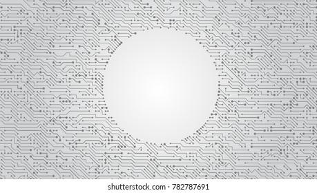 Vector Circuit Board Techno Background. EPS10 Vector