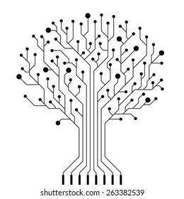 Vector circuit board tree.