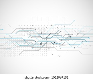 vector circuit network diagram technology background design