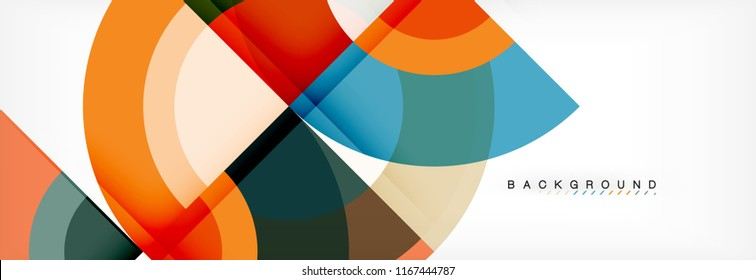 Vector circular abstract background, circles geometric shapes