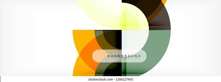 Vector circular abstract background, circles geometric shapes