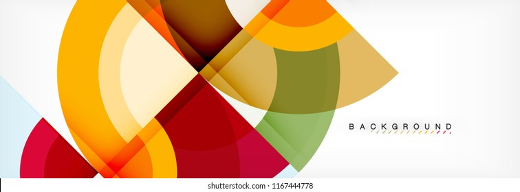 Vector circular geometric abstract background, template design