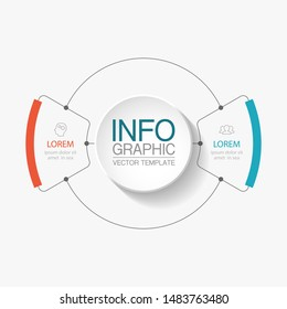 Vector circular infographic diagram, template for business, presentations, web design, 2 options.