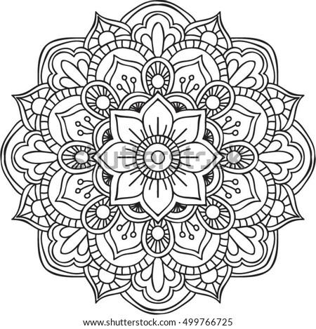 Immagine Vettoriale A Tema Vector Circular Ornament