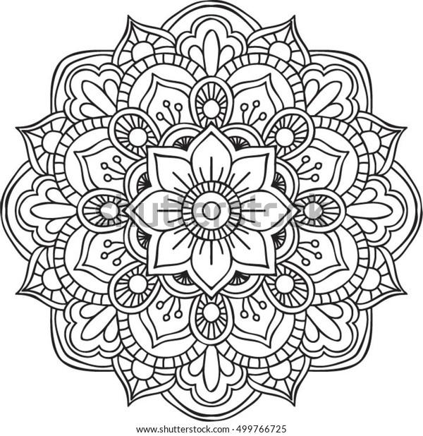 vector circular ornament mandala design isolated stock
