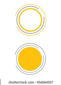 Vector Circular Sun Graphic Set