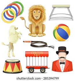 Vector Circus Icons Set 3