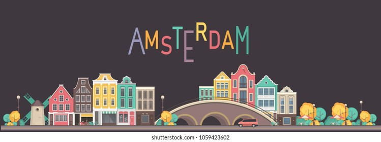 vector city amsterdam