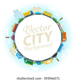 Vector city background