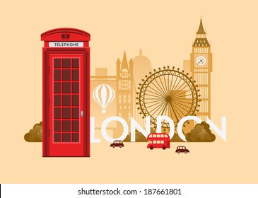 Vector city background. London