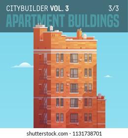 Vector city builder. Apartment buildings