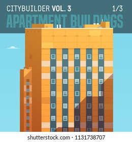 Vector city builder. Apartment buildings