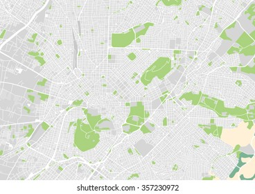 vector city map of Athens, Greece