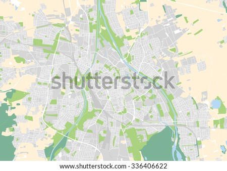 Vector City Map Augsburg Germany Stock Vector Royalty Free