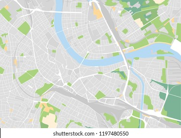 Vector city map of Basel