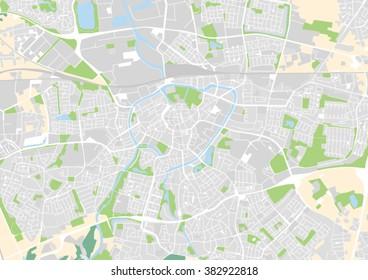 vector city map of Breda, Netherlands