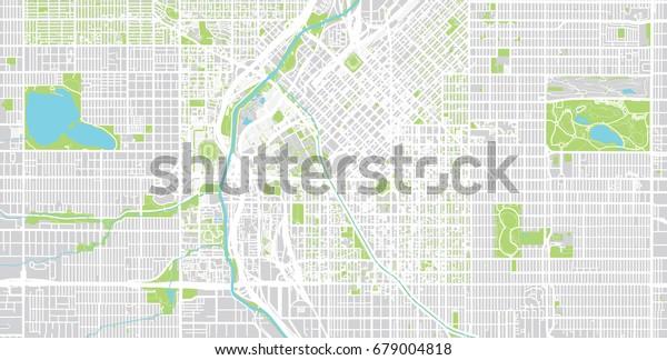 Denver City Map on