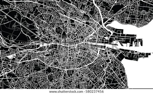 Vector City Map Dublin Ireland Stock Vector (Royalty Free ...