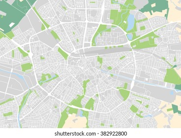 vector city map of Eindhoven, Netherlands