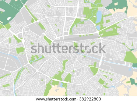 Vector City Map Eindhoven Netherlands Stock Vector (Royalty Free ...