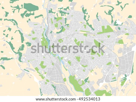 Vector City Map Exeter United Kingdom Stock Vector Royalty Free