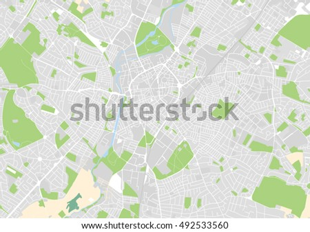 Leicester City Uk Map.Vector City Map Leicester United Kingdom Stock Vector Royalty Free