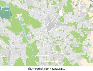 Vector City Map Salzburg Austria Stock Vector HD Royalty Free