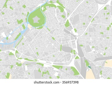 vector city map of Lille, France