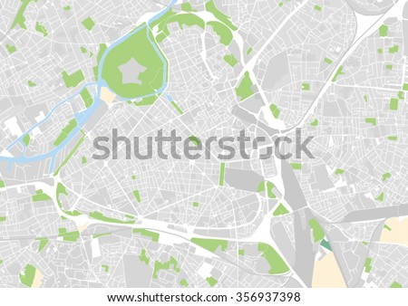 City Map Of France.Vector City Map Lille France Stock Vector Royalty Free 356937398