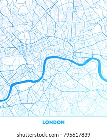 Vector city map of London with well organized separated layers. Vector illustration.