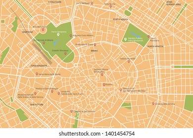 Milan Map Of Italy.Milan City Map Images Stock Photos Vectors Shutterstock