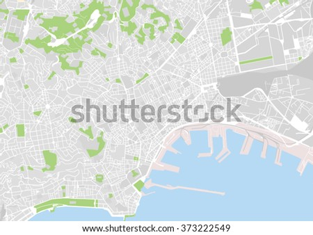 Vector City Map Naples Italy Stock Vector (Royalty Free) 373222549 ...