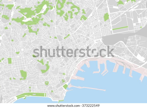Vector City Map Naples Italy Stock Vector (Royalty Free) 373222549 on