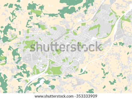 Vector City Map Oviedo Spain Stock Vector Royalty Free 353333909
