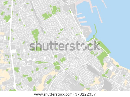 Vector City Map Palermo Italy Stock Vector Royalty Free 373222357