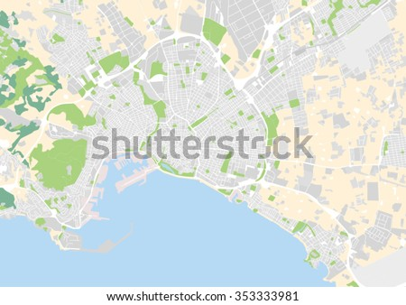 Vector City Map Palma De Mallorca Stock Vector Royalty Free