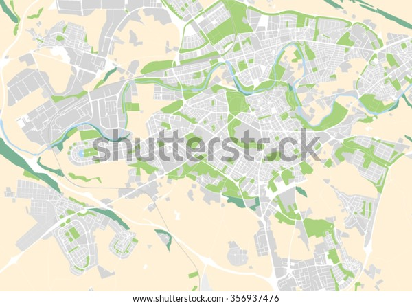Map Of Spain Pamplona.Vector City Map Pamplona Spain Stock Vector Royalty Free