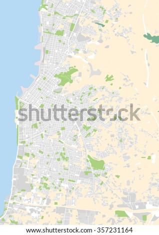 Vector City Map Patras Greece Stock Vector (Royalty Free) 357231164 ...