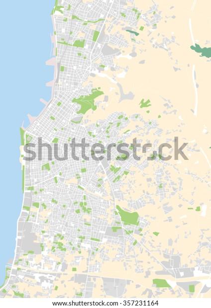 Vector City Map Patras Greece Stock Vector (Royalty Free ...