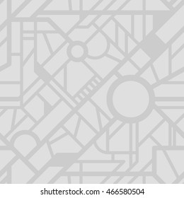 Vector city map pattern. Seamless roads background. Urban texture for your design.