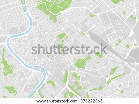 Vector City Map Rome Italy Stock Vector Royalty Free 373222363