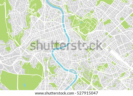 Vector City Map Rome Italy Stock Vector (Royalty Free) 527915047 ...