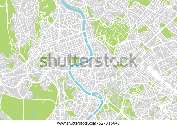 Vector City Map Rome Italy Stock Vector (Royalty Free) 527915047