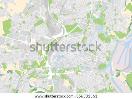 Vector City Map Strasbourg France Stock Vector Royalty Free