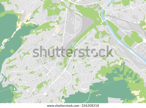 Stuttgart Map Of Germany.Vector City Map Stuttgart Germany Stock Vector Royalty Free 326208218