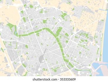 Mapa De La Ciudad De Valencia España.Imagenes Fotos De Stock Y Vectores Sobre Mapa Valencia