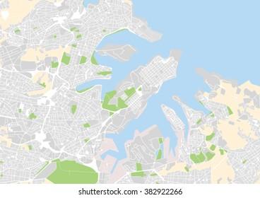 vector city map of Valletta, Malta