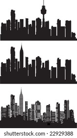 Vector a city silhouette