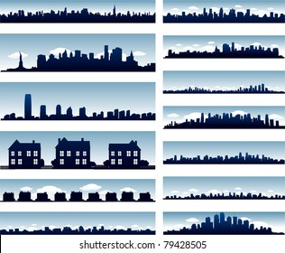 Vector city skylines